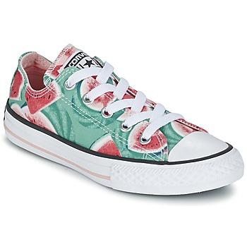 Zapatos Niña Zapatillas bajas Converse CHUCK TAYLOR ALL STAR WATERMELON OX Verde / Rojo / Blanco