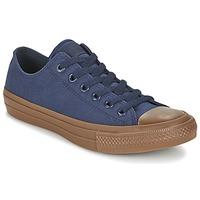 Zapatos Hombre Zapatillas bajas Converse CHUCK TAYLOR ALL STAR II TENCEL CANVAS OX Marino / Marrón