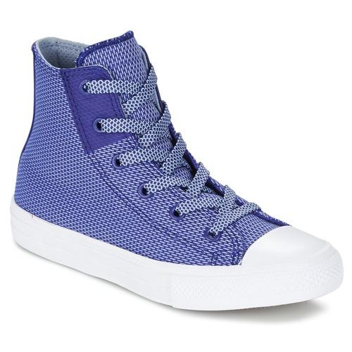 Zapatos Niños Zapatillas altas Converse CHUCK TAYLOR ALL STAR II BASKETWEAVE FUSE TD HI Indigo / Azul / Blanco