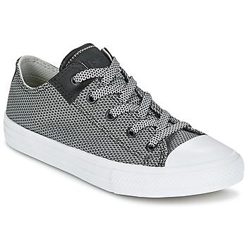 Zapatos Niños Zapatillas bajas Converse CHUCK TAYLOR ALL STAR II BASKETWEAVE FUSE TD OX Gris / Blanco