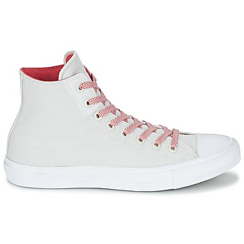 Converse CHUCK TAYLOR ALL STAR II BASKETWEAVE FUSE HI Crudo / Blanco / Rojo