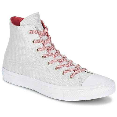 Zapatos Zapatillas altas Converse CHUCK TAYLOR ALL STAR II BASKETWEAVE FUSE HI CRUDO / Blanco / Rojo