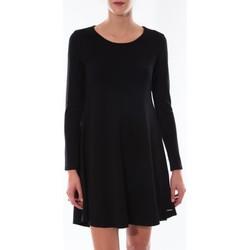 textil Mujer Vestidos cortos Coquelicot Robe  Col Rond Noir 16202 Negro