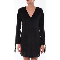 textil Mujer Vestidos cortos Coquelicot Robe  Col V Noir 16211 Negro