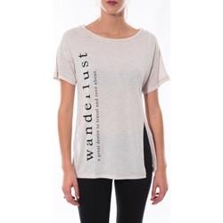 textil Mujer Camisetas manga corta Coquelicot T-shirt  Beige 16406 Beige