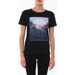 textil Mujer Camisetas manga corta Coquelicot T-shirt  Noir 16423 Negro