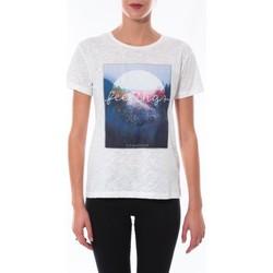 textil Mujer Camisetas manga corta Coquelicot T-shirt  Blanc 16423 Blanco