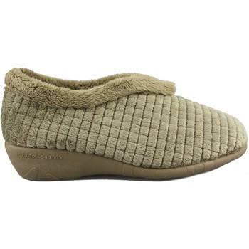 Zapatos Mujer Pantuflas Vulladi ZAPATILLAS CASA  MUJER ALASKA BEIGE