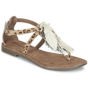 Zapatos Mujer Sandalias Metamorf'Ose ZABOUCHE Marrón / Blanco