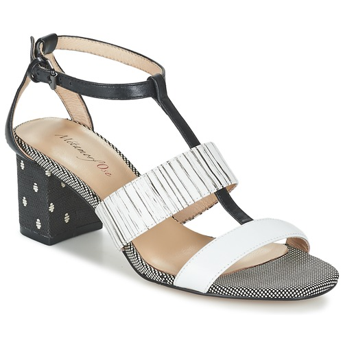 Zapatos Mujer Sandalias Metamorf'Ose ZAFNOLO Negro / Blanco