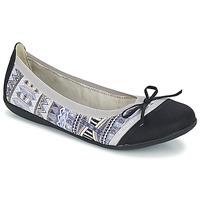Zapatos Mujer Bailarinas-manoletinas LPB Woman CAPRICE Gris / Negro