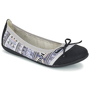 Zapatos Mujer Bailarinas-manoletinas Les P'tites Bombes CAPRICE Gris / Negro