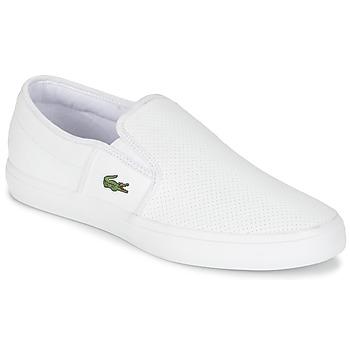 Zapatos Hombre Slip on Lacoste GAZON BL 1 Blanco