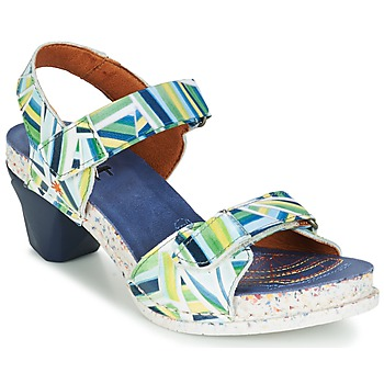 Zapatos Mujer Sandalias Art I  ENJOY Azul / Verde