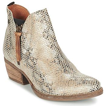 Zapatos Mujer Botas de caña baja Coqueterra LIZZY Beige / Serpiente