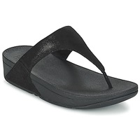 Zapatos Mujer Chanclas FitFlop SHIMMY SUEDE TOE-POST Negro