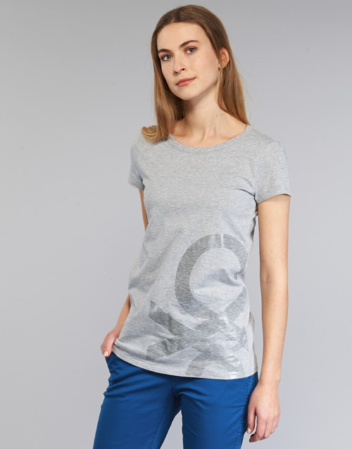 textil Mujer camisetas manga corta Benetton MADOUL Gris