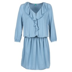 textil Mujer vestidos cortos Benetton AFIDOUL Azul