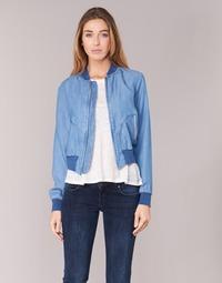 textil Mujer chaquetas denim Benetton FERMANO Azul / Medium