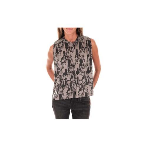 textil Mujer Tops / Blusas Vero Moda Top Horse  Gris Noir Negro