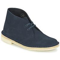 Zapatos Mujer Botas de caña baja Clarks DESERT BOOT Azul