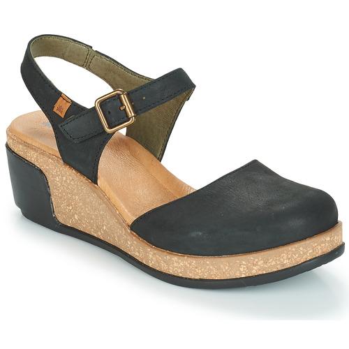 Zapatos Mujer Sandalias El Naturalista LEAVES Negro