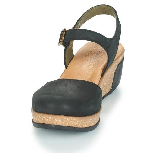 Naturalista Leaves Negro Mujer El Zapatos Sandalias Y7gbfv6y