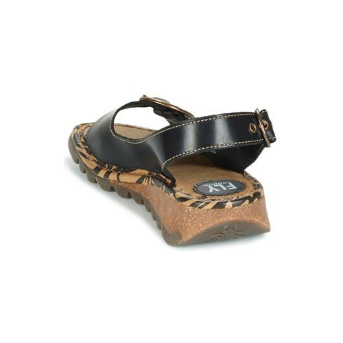 Mujer Fly Tramfly Sandalias Negro London Zapatos 9YHE2WID