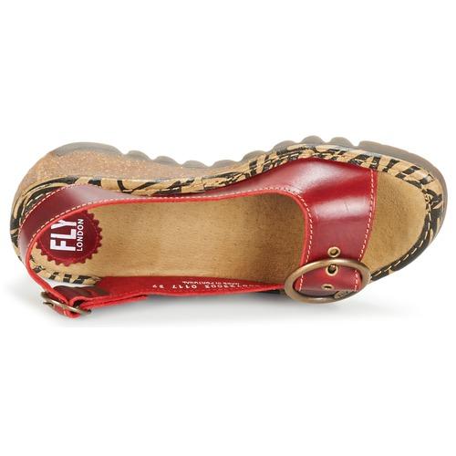 Sandalias Zapatos Mujer London Fly Tramfly Rojo lcKJTF35u1