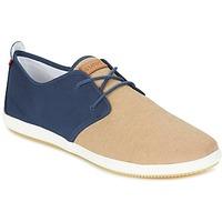 Zapatos Hombre Zapatillas bajas Lafeyt MARTE SUMMER CHAMBRAY Marino / Beige