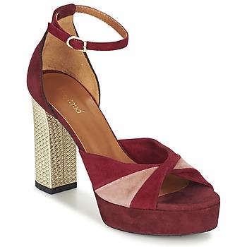 Zapatos Mujer Sandalias Heyraud EVELINE Rojo / Rosa / Oro