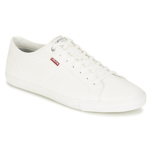 8c27884c806 Levi s WOODS Blanco - Envío gratis con Spartoo.es ! - Zapatos ...