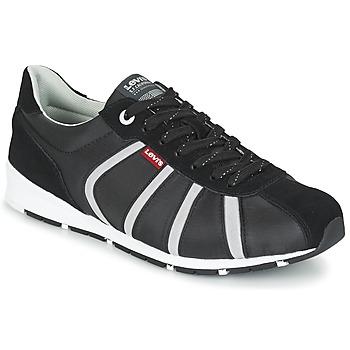 Zapatos Hombre Zapatillas bajas Levi's ALMAYER II Negro / Blanco