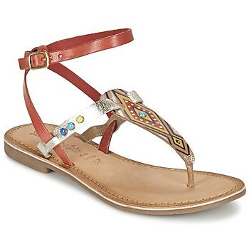Zapatos Mujer Sandalias Lola Espeleta ELODIE Rojo / Plata