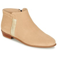 Zapatos Mujer Botas de caña baja M. Moustache EMMANUELLE Beige / Oro