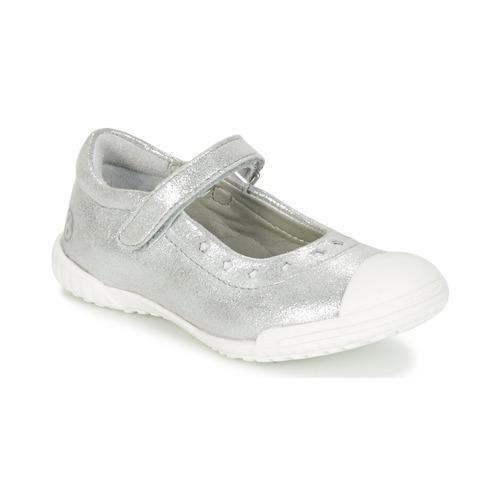 Zapatos Niña Bailarinas-manoletinas Mod'8 PRISCA Plata