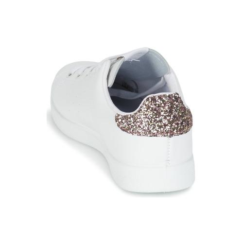 BlancoRosa Victoria Zapatos Piel Mujer Deportivo Glitter Basket Zapatillas Bajas m8wNn0