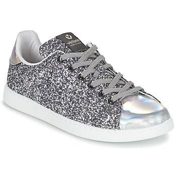 Zapatos Mujer Zapatillas bajas Victoria DEPORTIVO BASKET GLITTER Plata