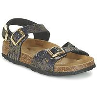 Zapatos Niña Sandalias Betula Original Betula Fussbett JEAN Negro / Oro