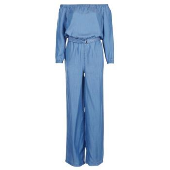 textil Mujer Monos / Petos MICHAEL Michael Kors TENCEL OFF SHDR JUMPSUIT Azul