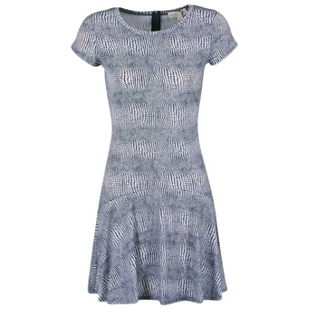 textil Mujer vestidos cortos MICHAEL Michael Kors ZEPHYR SS FLARE DRS Azul / Blanco