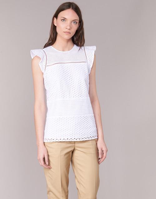 textil Mujer Tops / Blusas MICHAEL Michael Kors COMBO EYELET S/S Blanco