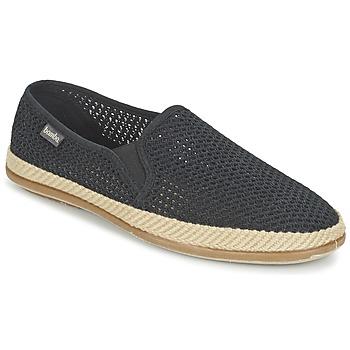 Zapatos Hombre Slip on Bamba By Victoria COPETE ELASTICO REJILLA TRENZA Negro