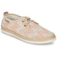 Zapatos Mujer Zapatillas bajas Victoria BLUCHER TEJIDO ZIG-ZAG Salmón