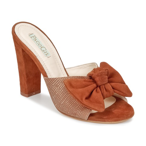Zapatos Mujer Zuecos (Mules) Paco Gil BRAZIL Marrón
