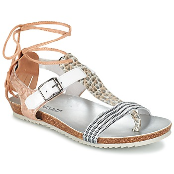 Zapatos Mujer Sandalias Regard RABALU Blanco / Beige / Serpiente