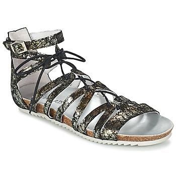 Zapatos Mujer Sandalias Regard RABAZO Negro / Plata