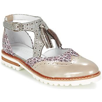 Zapatos Mujer Derbie Regard ROAXO Beige / Plata