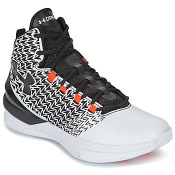 Zapatos Hombre Baloncesto Under Armour UA ClutchFit Drive 3 Blanco / Negro / Naranja
