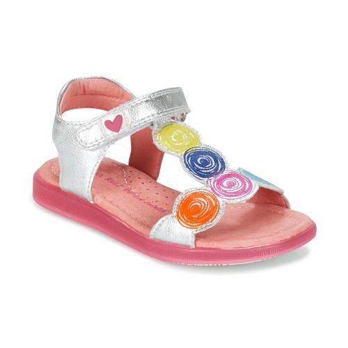 Zapatos Niña Sandalias Agatha Ruiz de la Prada BIDINETTE Plateado